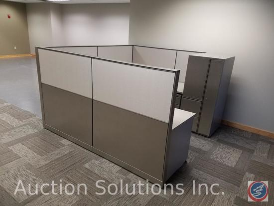 "Herman Miller 5 Section of Cubicle Dividers Measuring: 49 1/2"" x 57"", Adjustable Height 1 Section of"
