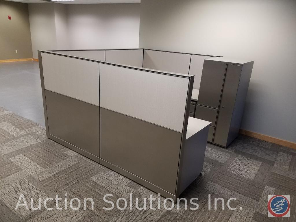 """Herman Miller 5 Section of Cubicle Dividers Measuring: 49 1/2"""" x 57"""", Adjustable Height 1 Section of"""