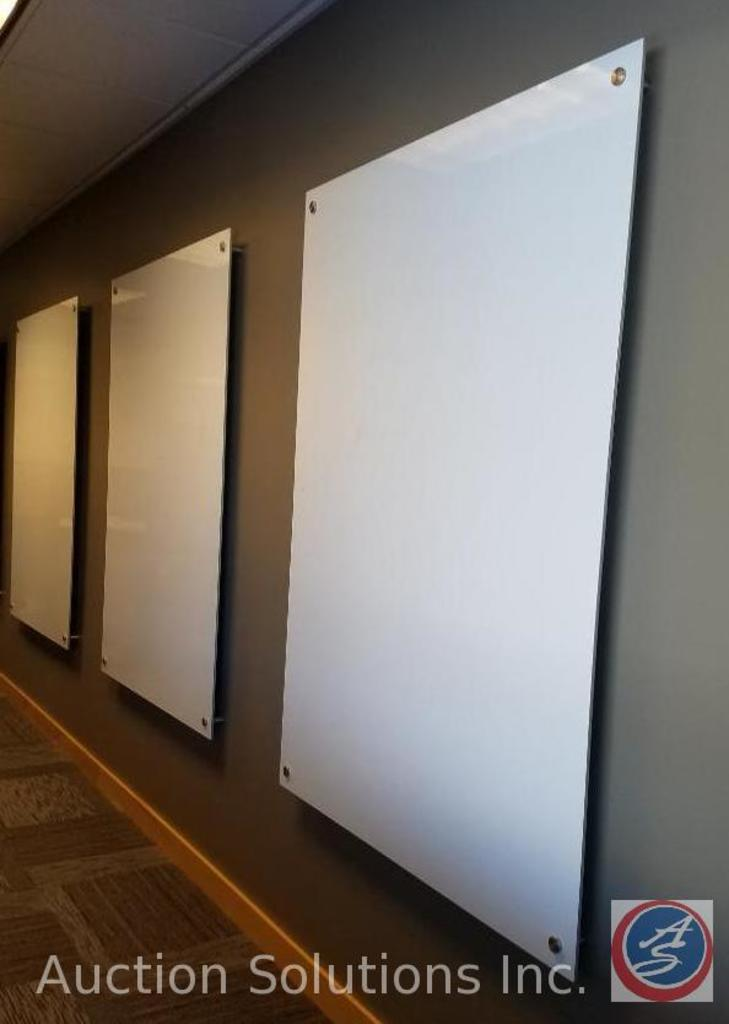 """(3) Large Wall Mounted Dry Erase Boards Estimated Size 60""""X48"""" (Buyer Must Remove) {{SOLD TWO TIMES"""