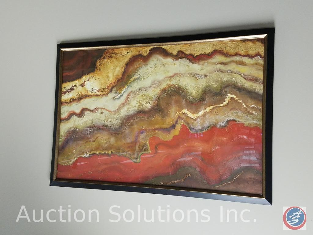 """(2) Framed Wall Art- One Titled """"Tierra I"""" by Patricia Pinto and the Other Signed by S. Vassileva"""
