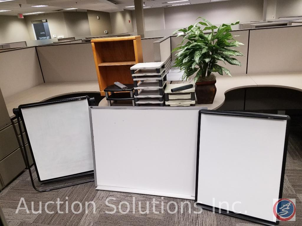 Assorted Office Supplies Quartet Dry Erase Board Tripod Table or Floor Model, Fellowes Computer