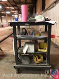 4 Tier Rolling Cart Measuring 24