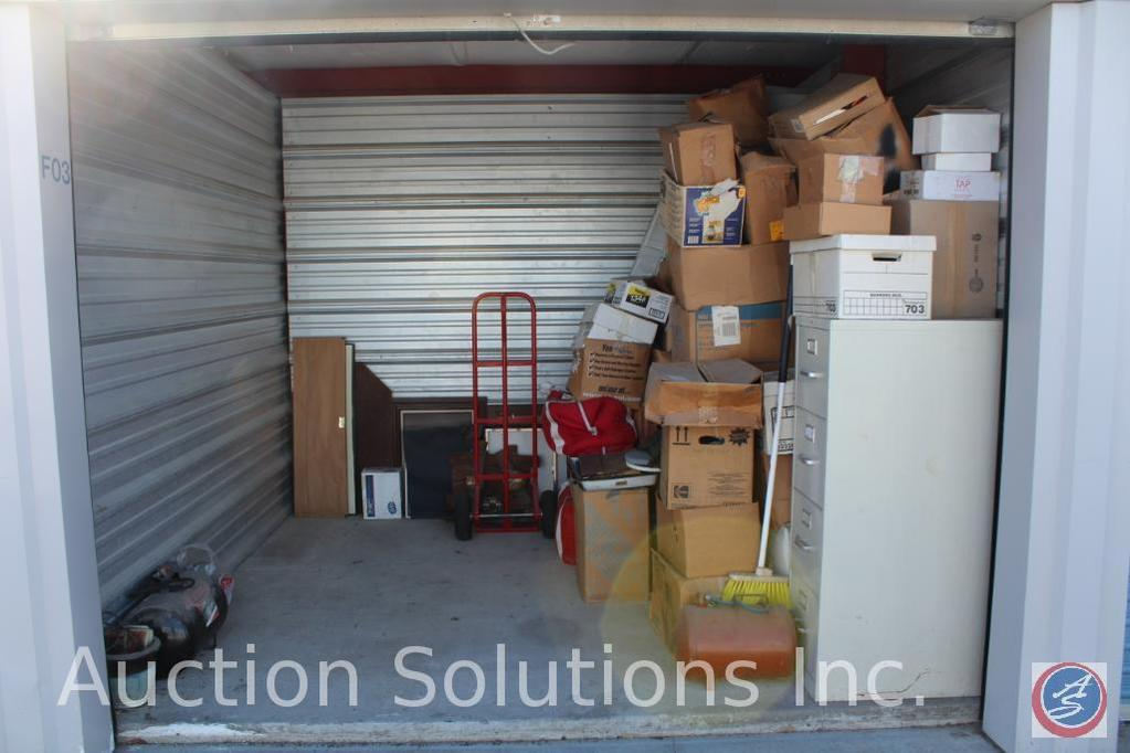LOCATED IN COUNCIL BLUFFS, IA Complete Contents of [10' x 10'] Unit F03 A $100 Clean-Out Deposit