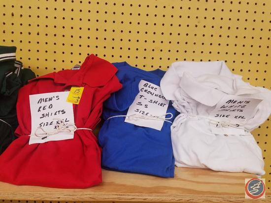 Red, White, and Blue Men's Shirts {{Knit and T Shirt}} Assorted Sizes