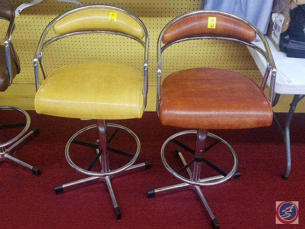 (2) Vintage Backed Bar Stools {{SOLD TWO TIMES THE MONEY}}