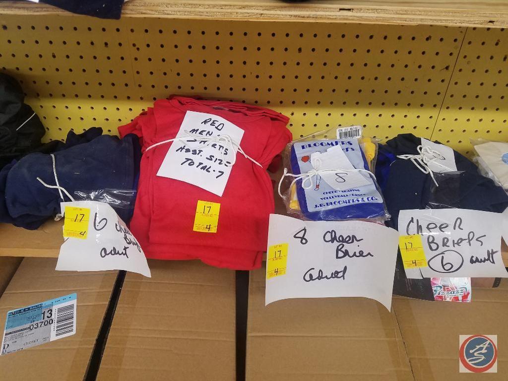 Men's T Shirts, Cheer Briefs, Assorted Sizes