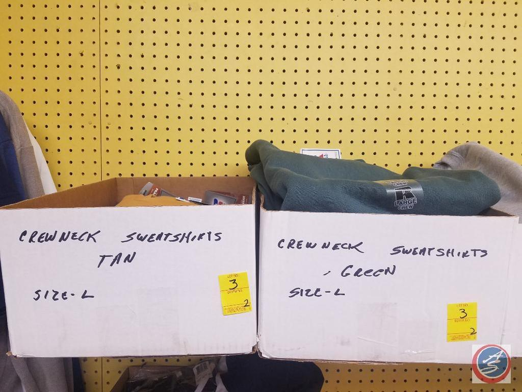 Size Large Men's Crewneck Sweat Shirts