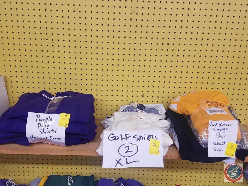 Polo Shirts, Golf Shirts, Compression Shirts Assorted Sizes