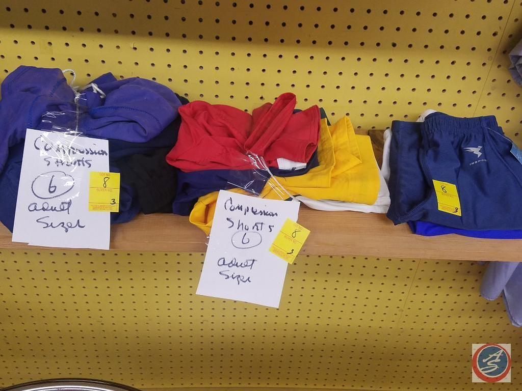 (3) Stacks of Compression Shorts Assorted Sizes