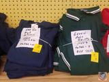 Blue and Green Men's Knit Shirts Assorted Sizes
