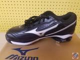 Mizunno Classic G6 Low Switch Black/White US 10 Baseball Shoes