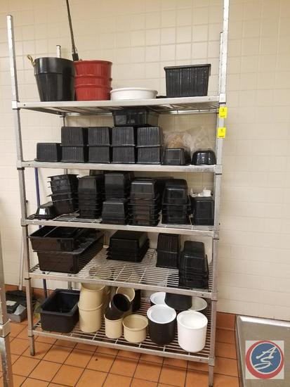 """Amco NFS 5 Tier Wire Shelving 48"""" x 24"""" x 94"""" (Contents not included)"""