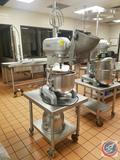 Hobart Commercial Mixer A-200 with Mixing Bowl, Vegetable Slicer, Extra Bowl, Beater and Assorted