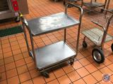 2 Tier Stainless Steel Cart on Wheels 16