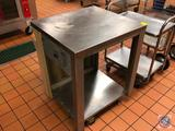 Lincoln Food Service Equipment NFS 2 Tier Cart on Wheels Model #00 28