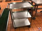 NSF 3 Tray Bakers Cart On Wheels 26 1/4