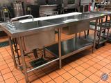 Stainless Steel Prep Table with Holding Drawer with Electrical 120V Capabilities and Sink and