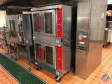 Vulcan NSF Double Deck Full Size Electric Convection Oven with Solid State Controls 480V 3PH Model