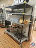 Amco 4 Tier NSF Composite Shelving on Wheels 60