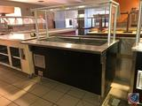 Vollrath NSF Salad Bar with Single Sided Sneeze Guards Model M37066-00002-MNA 1PH 120V 65