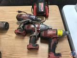 3 Milwaukee 18 volt M18 7/16 in hex drive impact wrenches with one charger and battery Model 2660-20