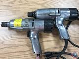 2 Ingersoll Rand 1/2 in Hex Drive 110v electric impact wrenches Model 8053C