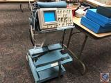 Tektronix 2467B 400MHZ Oscilloscope on cart..