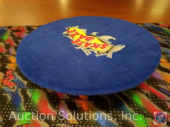 Skate Daze 48'' Round Carpeted Bench with Cement Base {{HEAVY, PLAN ACCORDINGLY FOR REMOVAL}}