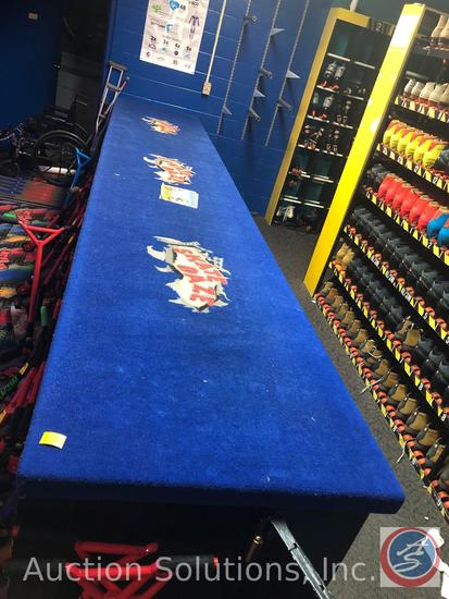 """'Skate Daze' Carpeted Storage Counter 205"""" x 37"""" x 40"""" {{BUYER MUST REMOVE}}"""