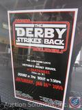 Omaha Roller Girls Foam Board Derby Bout Poster