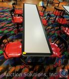 Plymold Booths by Foldcraft T 94-9067 8 Ft. 6 Seat T Cafeteria Table {{6 SEATS, 2 SEATS MISSING}}