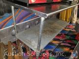 Tabco Stainless Steel Prep Table w/ Galvanized Bottom Shelf 72