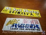 'We Sell Skates' Vinyl Banner, Lazer Runner Laser Tag Vinyl Banner