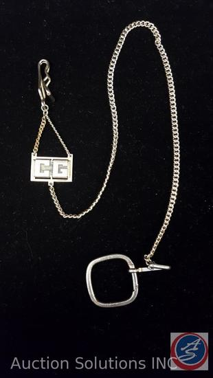 Pocket Watch Chain Initials of CG
