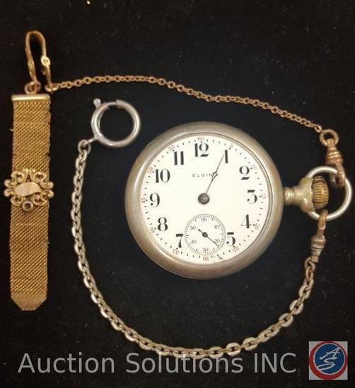 Elgin Pocket Watch and Pocket Watch Chain