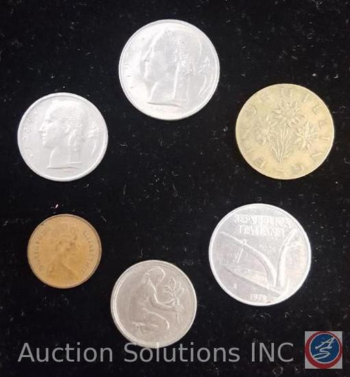 6 piece foreign coin money