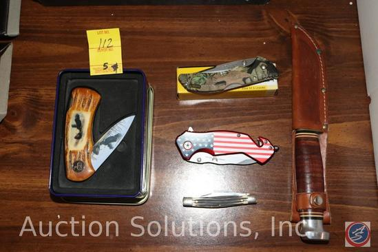 Wild Outdoor Collector's Knife in Tin, Buck USA Pocket Knife, Combat Ready Pocket Knife, Pocket