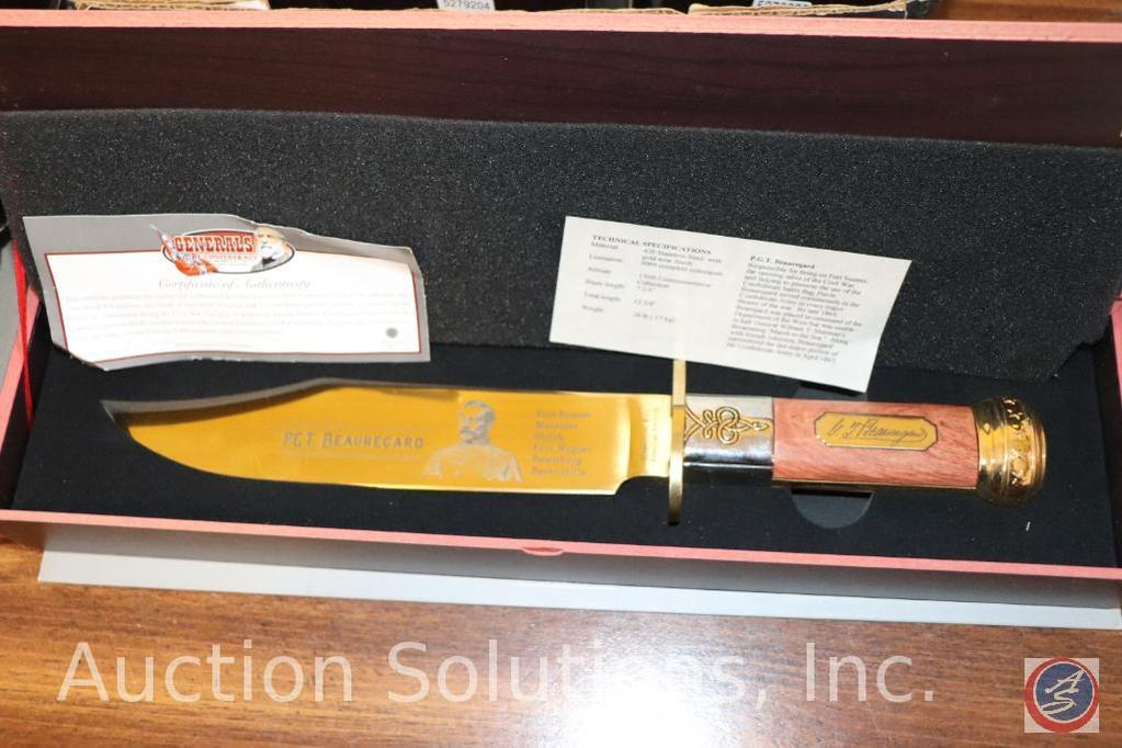 P.C.T. Beauregard Collector's Knife with Certificate of Authenticity in Original Collector's Box