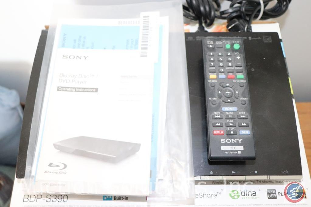 Sony Blu-Ray Disk Player with Remote and Original Box and Paperwork