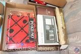 Vintage PoKeNo Game, Poker Set, Bicycle Poker Chip Set, Vintage Deluxe Rummikub, Geoffrey Allen Desk