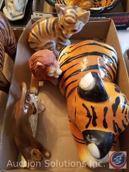 Ceramic Kitten Made in U.S.S.R, Ceramic Lion, Ceramic Lioness by Goebel West Germany 1965, Ceramic