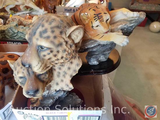 Deendoo Crafts Tiger, Leopard Bust
