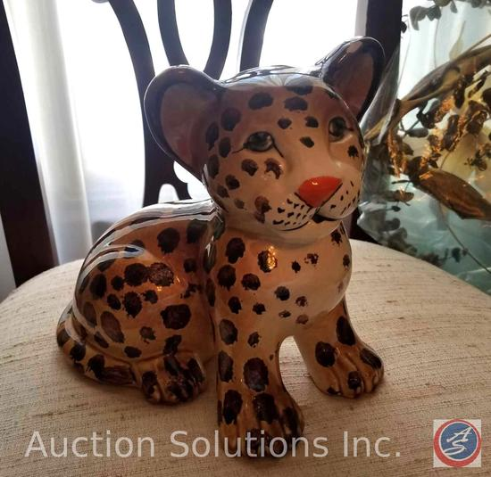 (2) Ceramic Leopard Cubs Made in Italy