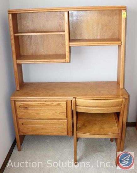 """Computer Desk 48"""" x 16"""" x 62"""", Wooden Chair"""