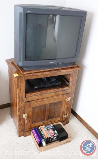 "Entertainment Stand 29"" x 18"" x 32"", Sony KV-27V35 27"" Television, Dish VIB211K Includes Remote"