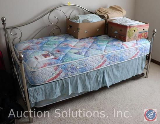Trundle Day Bed w/ Sealy Posturepedic 3000 and Berkshire Oracle Mattresses, Linens Included