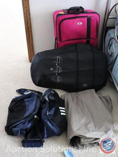 Sharper Image Shiatsu Massager MSG-C210, Leisure Pink Suitcase, Carry-On Luggage