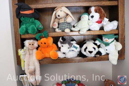 Lego Dragon Stuffed Toys, Gumby Costume Chair, Desk Lamp, Magnavox Alarm Radio, Hanging File folders