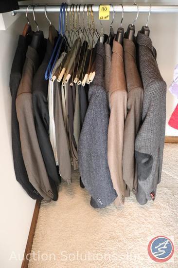 [8] Men's (Mostly Wool) Suit Jackets Size 44R, and [12] Men's Dress Slacks W36 x L34
