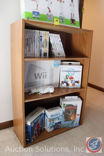 Wii Complete Gaming System: Fit, NFL Training Camp, Resort Sports, Mario Kart, Hooked with Fishing